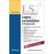 Legea societatilor si 8 legi uzuale - actualizat 30 octombrie 2014