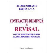 Contractul de munca si revisal - editia a V-a - 20 ianuarie 2015