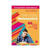 Evaluarea naţională 2015 Matematică -  60 de teste rezolvate după modelul MEN