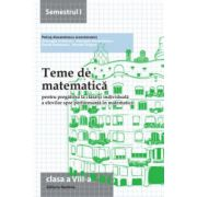 Teme de matematică 2015 Clasa a VIII-a Semestrul I