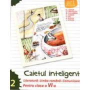 Caietul inteligent, pentru clasa a VI-a, semestrul II - Literatura. Limba romana - Comunicare