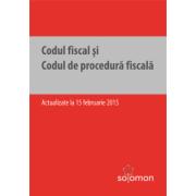 Codul fiscal şi Codul de procedură fiscală – actualizate la 15 februarie 2015