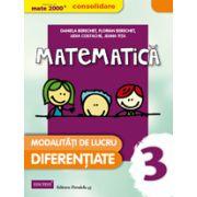 MATEMATICA 2015 CONSOLIDARE - MODALITATI DE LUCRU DIFERENTIATE - CLASA A III-A