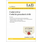 Codul civil si Codul de procedura civila - Actualizat la 5. 11. 2015