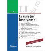 Legislatia insolventei - Actualizat 20 octombrie 2015