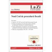 Noul Cod de Procedura Fiscala. Actualizat la 25. 09. 2015