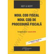 Noul Cod fiscal si noul Cod de procedura fiscala. In vigoare de la 1 Ianuarie 2016