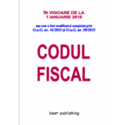Codul fiscal format A5 - editia a XXXIII-a - 16 noiembrie 2015 - in vigoare de la 1 ianuarie 2016