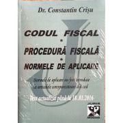 Codul fiscal - Procedura fiscala - Normele de aplicare - Text actualizat pana la 18. 01. 2016 - Normele de aplicare au fost introduse la articolele corespunzatoare din cod