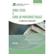 Codul fiscal și codul de procedură fiscală - ianuarie 2016