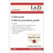 Codul penal si Codul de procedura penala. Actualizat la 20. 01. 2016