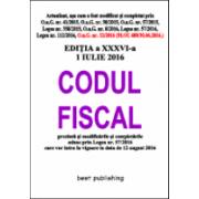 Codul fiscal format A5 - 1 iulie 2016