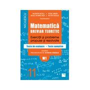 Matematică clasa a XI-a (M1). Breviar teoretic cu exerciţii şi probleme propuse şi rezolvate, teste de evaluare 2016