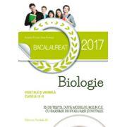 BACALAUREAT 2017- BIOLOGIE VEGETALA SI ANIMALA. CLASELE IX-X - 35 DE TESTE, DUPA MODELUL M. E. N. C. S. CU BAREME DE EVALUARE SI NOTARE