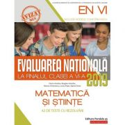 Evaluarea Națională 2019 la finalul clasei a VI-a - Matematică și Științe