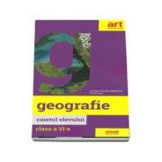 Geografie, caietul elevului pentru clasa a VI-a