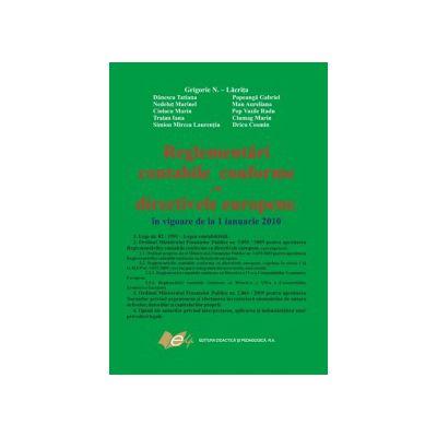 Reglementari contabile conforme cu directivele europene 3055/ 2010