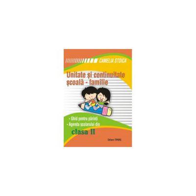 Unitate si continuitate scoala-familie cls a II-a (Agenda elevului)