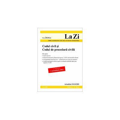 Codul civil si Codul de procedura civila actualizata la data de 10 octombrie 2011  Editia 9
