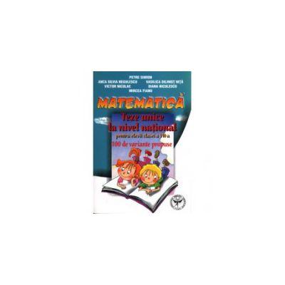 Matematica: teze unice la nivel national pentru elevii clasei a VII-a