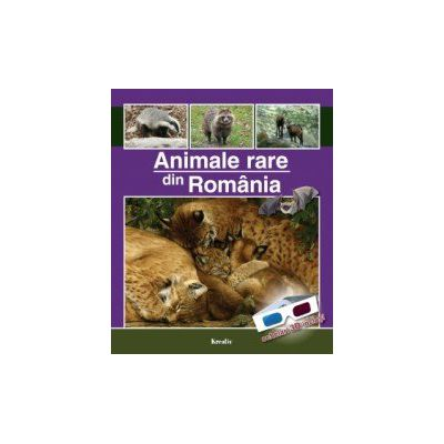 Animale rare din România - Ochelari 3D inclusi