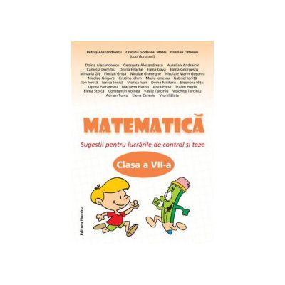 Matematica clasa a VII-a. Sugestii pentru lucrarile de control si teze