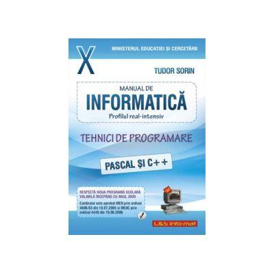 Manual de Informatica, clasa a X-a, profilul real - intensiv