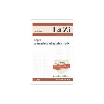 Legea contenciosului administrativ Actualizat 20 septembrie 2012