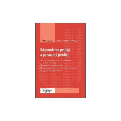 Raspunderea penala a persoanei juridice