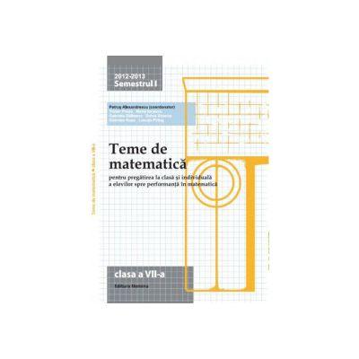 Teme de matematică 2013  Clasa a  VII-a