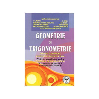 Geometrie si trigonometrie. Exercitii si probleme pentru elevii claselor de liceu,probleme pregatitoare pentru examenul de bacalaureat si admitere in invatamantul superior