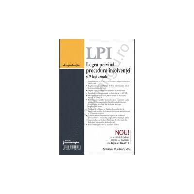 Legea privind procedura insolventei si 9 legi uzuale actualizat 23 ianuarie 2013