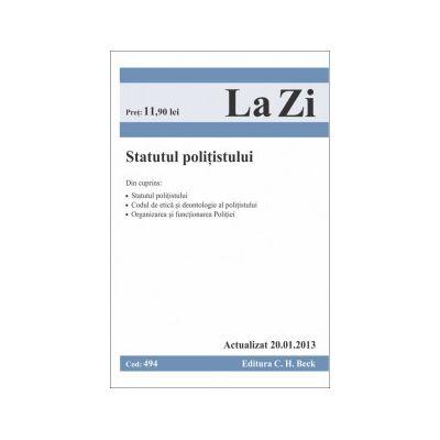 Statutul politistului  actualizat 20.01.2013