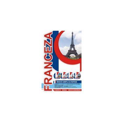 Invata simplu si repede limba franceza (4 audio CD + manual + ghid de conversatie)