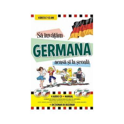 Sa invatam GERMANA acasa si la scoala (4 Audio CD + Manual + Dictionar de buzunar)
