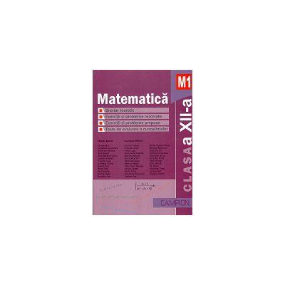 Matematica M1 Clasa a XII-a - Breviar teoretic - Exercitii si probleme rezolvate -Exercitii si probleme propuse - Teste recapitulative