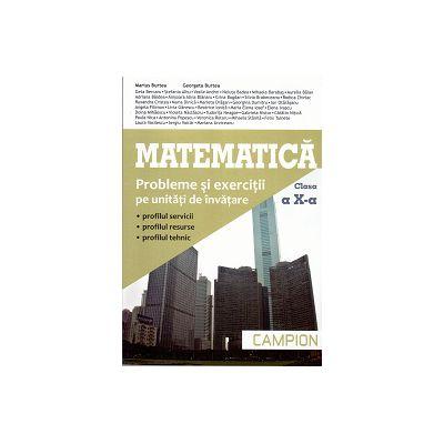 Matematica Clasa a X-a - Probleme si Exercitii pe Unitatii de Invatare (profilul servicii, profilul resurse, profilul tehnic)