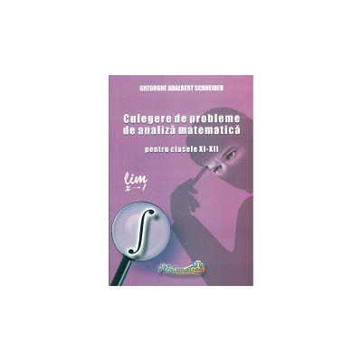 Culegere de Probleme de Analiza Matematica clasele XI - XII  - Schneider