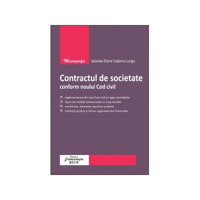 Contractul de societate conform noului Cod civil
