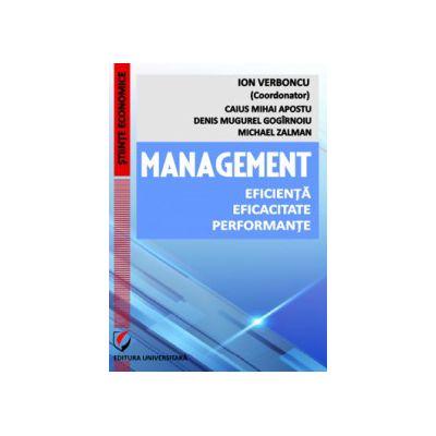Management. Eficienta. Eficacitate. Performante