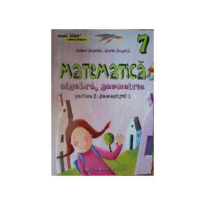 Matematica 2015 - 2016 Consolidare - Algebra, Geometrie - Clasa A VII-A - Partea I - Semestrul I
