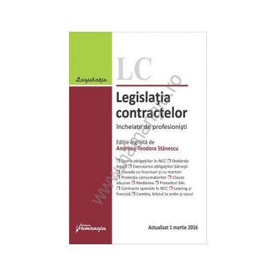 Legislatia contractelor incheiate de profesionisti. Actualizat 1 martie 2016