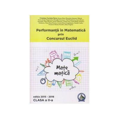 Performanta in Matematica prin Concursul National Euclid - clasa a II-a - editia 2015-2016 - Cristina-Lavinia Savu