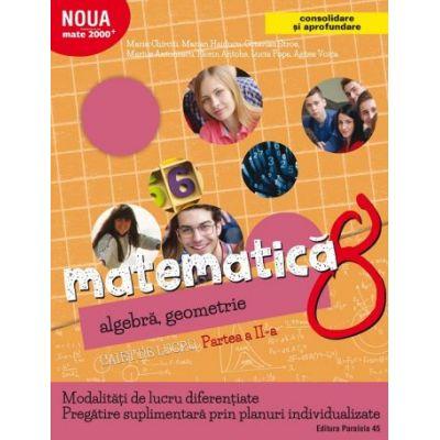 Matematica 2017 - 2018 Consolidare - Algebra, Geometrie - Clasa A VIII-A - Caiet de lucru - Semestrul II