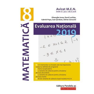 EVALUAREA NAȚIONALĂ 2019 MATEMATICA - CLASA A VIII-A - Avizat M. E. N. conform O. M. nr. 3022/8. 01. 2018