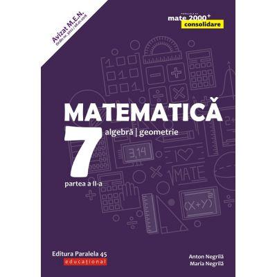 Matematica 2018 - 2019 Consolidare - Algebra, Geometrie - Clasa A VII-A - Semestrul II - Avizat M. E. N.