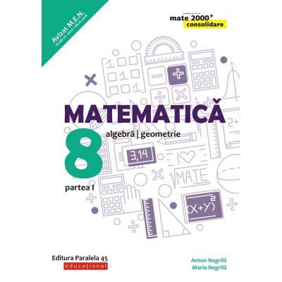 Matematica 2019 - 2020 Consolidare - Aritmetica, Algebra, Geometrie - Clasa A VIII-A - Semestrul I - Avizat M. E. N.