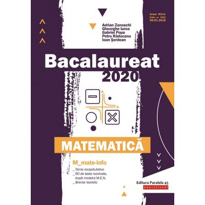 Bacalaureat 2020 Matematică M_Mate-Info