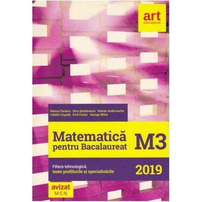 Bacalaureat 2019 - MATEMATICĂ M3 -Filiera tehnologică, toate profilurile și specializările