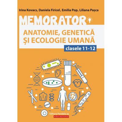 Memorator de anatomie, genetică și ecologie umană pentru clasele XI-XII
